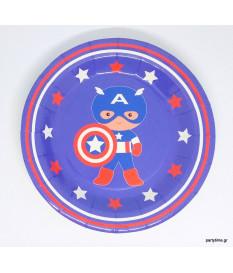 Πιάτα γλυκού Captain America